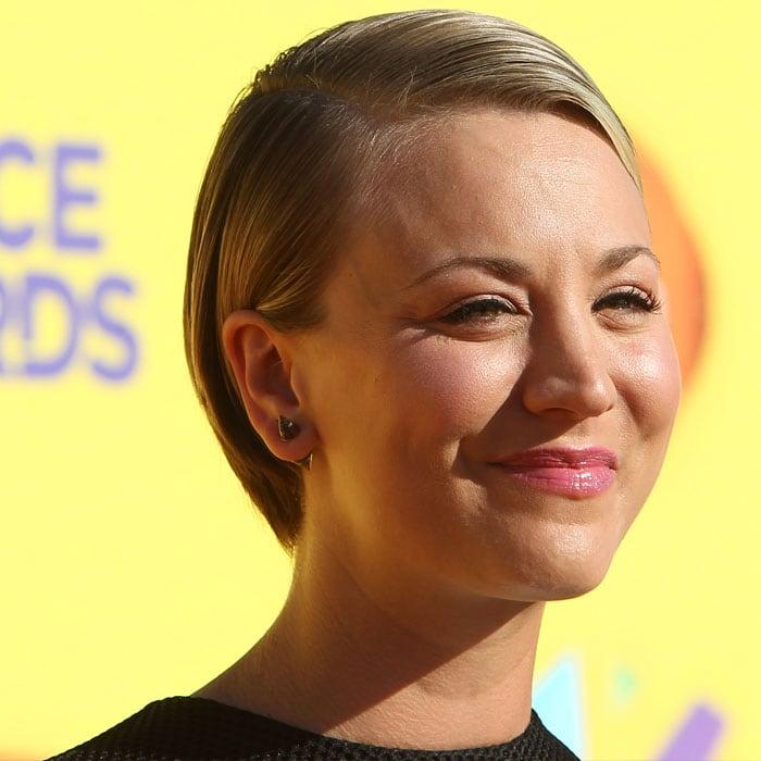 Kaley Cuoco wearing Vita Fede spike earrings