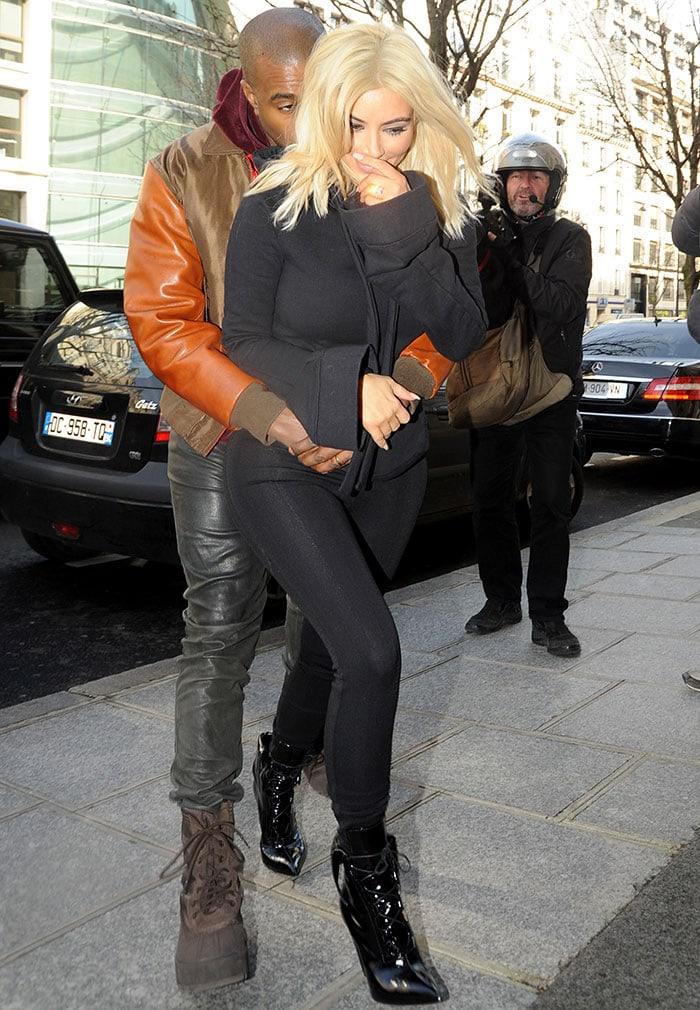 Kanye-West-Kim-Kardashian-Public-Display-of-Affection-in-Paris