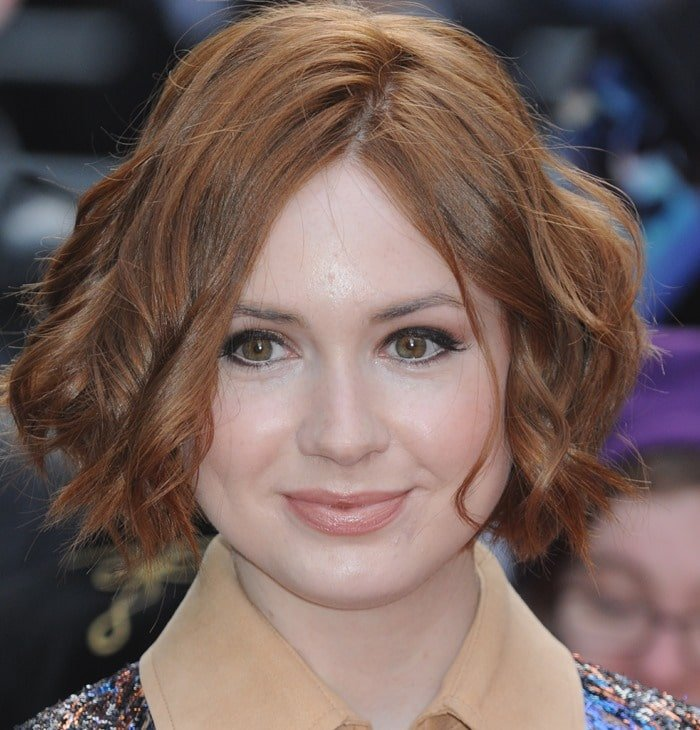 Karen Gillan at the Jameson Empire Film Awards 2015 at the Grosvenor House Hotel in Park Lane in London on March 29, 2015