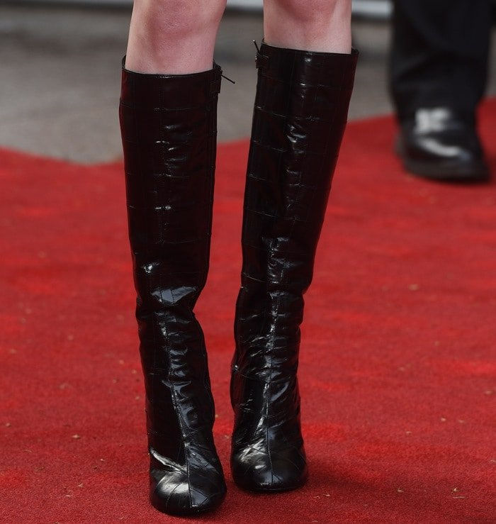 Karen Gillan's shiny boots by Louis Vuitton