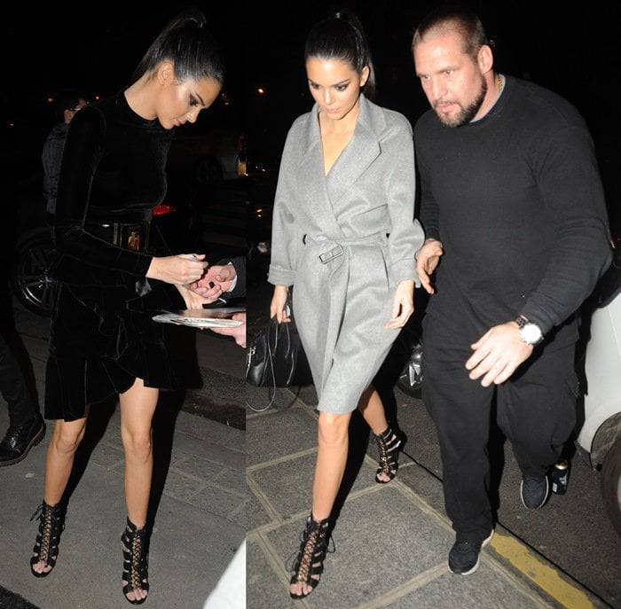 Kendall Jenner's chunky waist-cinching belt and metal cage covered heels