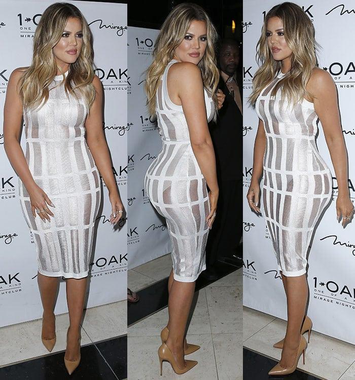 Khloe Kardashian'ssheer white dress that highlighted her big ass