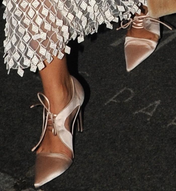 Kim Kardashian's lace-up heels