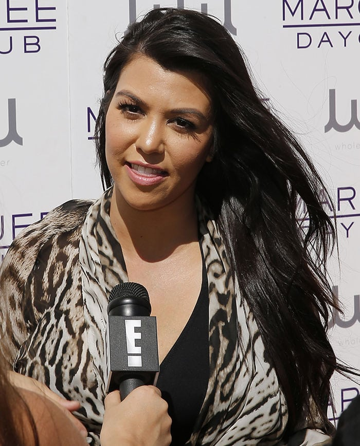 Kourtney Kardashian hosting Marquee Dayclub Season Preview at The Cosmopolitan in Las Vegas on March 21, 2015