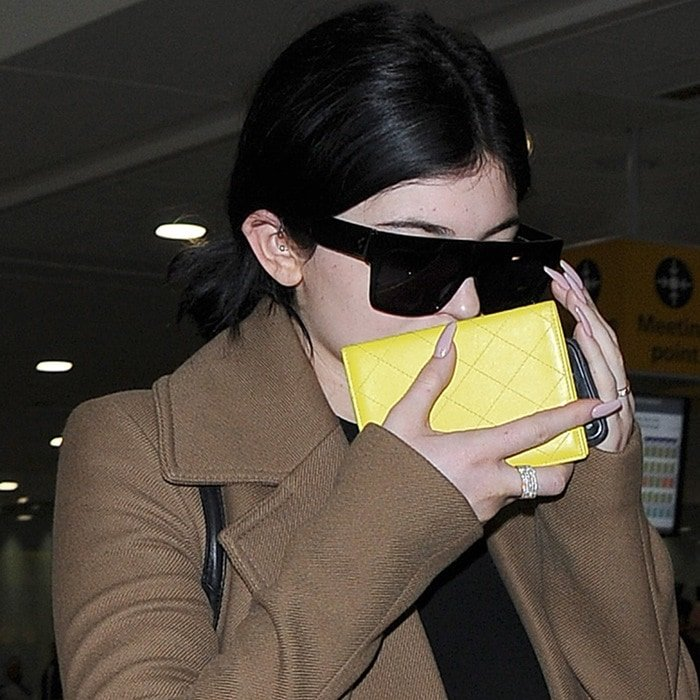 Kylie Jenner goes make-up free after the long haul flight