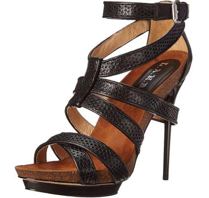 """L.A.M.B. """"Beatrice"""" Sandals in Black"""