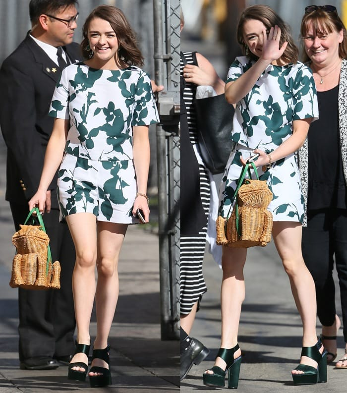 Maisie Williams seen arriving at Jimmy Kimmel Live
