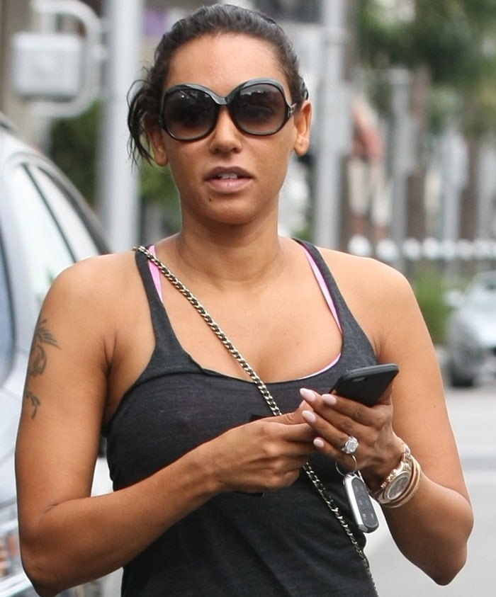 Mel B. spotted leaving the gym in Beverly Hills