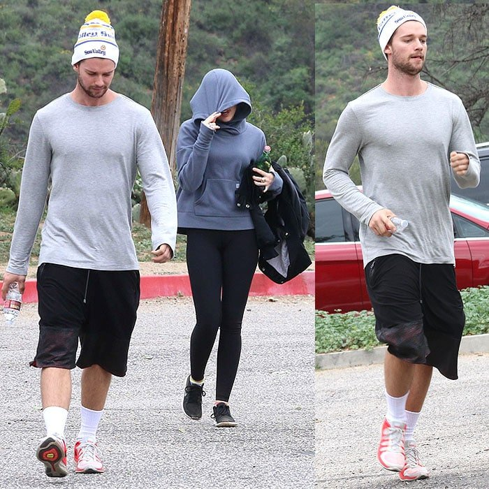 Couple Patrick Schwarzenegger and Miley Cyrus going on a hike together at Runyon Canyon