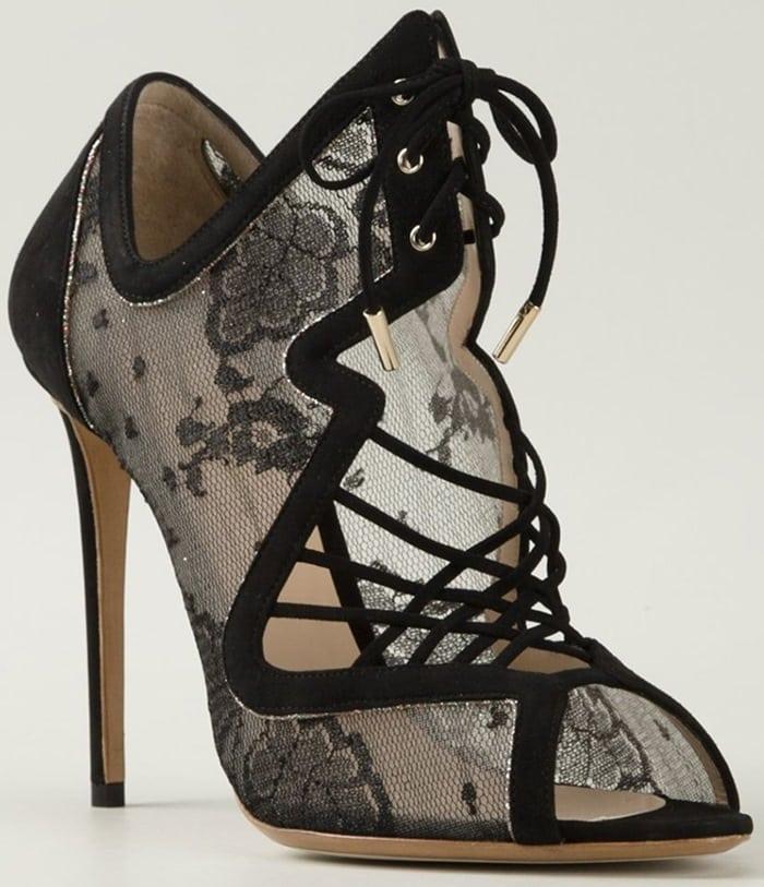 Nicholas Kirkwood Black 'Ava' Sandals