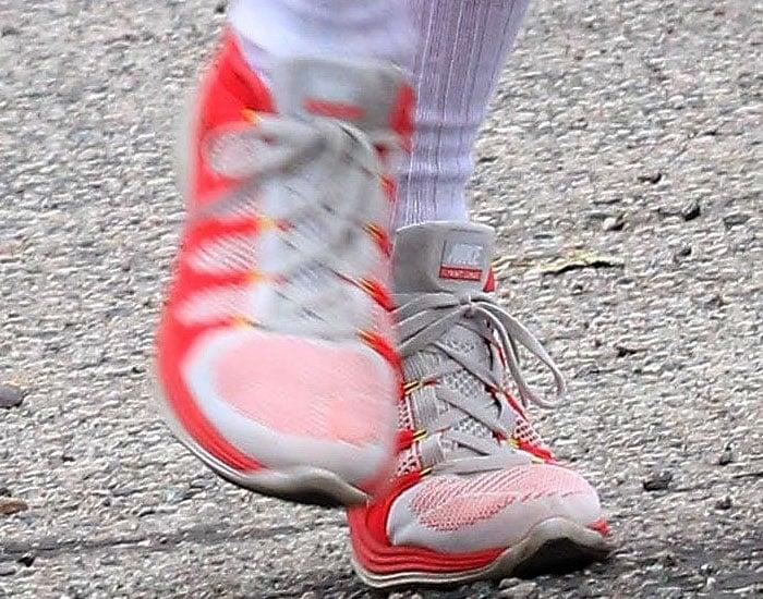 """Nike men's """"FlyKnit Lunar 2"""" sneakers on Patrick Schwarzenegger"""
