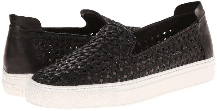 Rachel Zoe Burke Black Nappa Fashion Sneakers