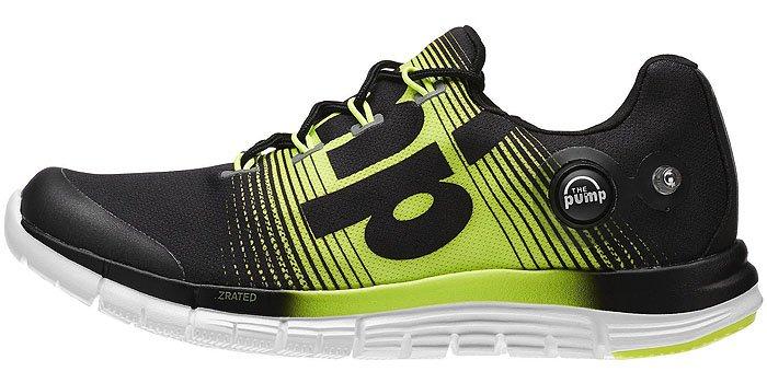 "Reebok ""ZPump Fusion"" Sneakers in Black/Solar Yellow/White"