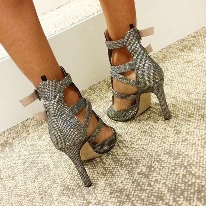 Sarah Jessica Parker wearing SJP sandals