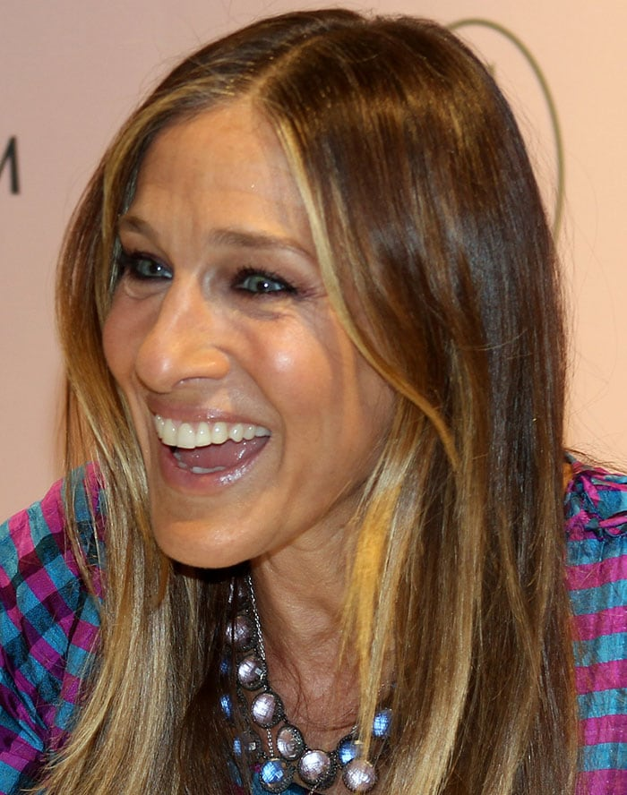 Sara Jessica Parker promoting her clothing and accessory line, SJP, at Nordstrom inside The Mall of San Juan in Puerto Rico