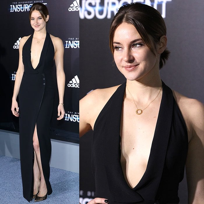 """Shailene Woodley at the premiere of """"Insurgent"""" the Ziegfeld Theater in New York City on March 16, 2015"""