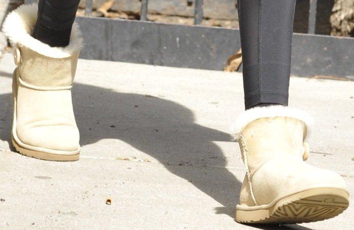 Gigi Hadid's Mini Bailey Button boots