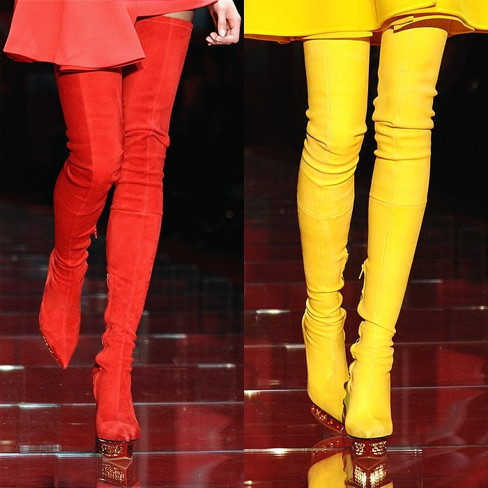Versace fall 2015 thigh boots