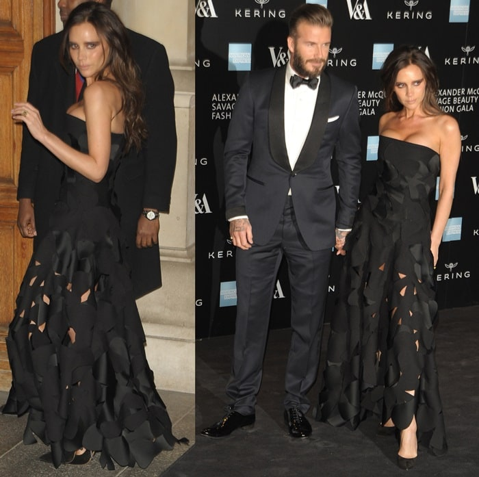 Victoria Beckham's strapless dress with triangular cut-out detailing