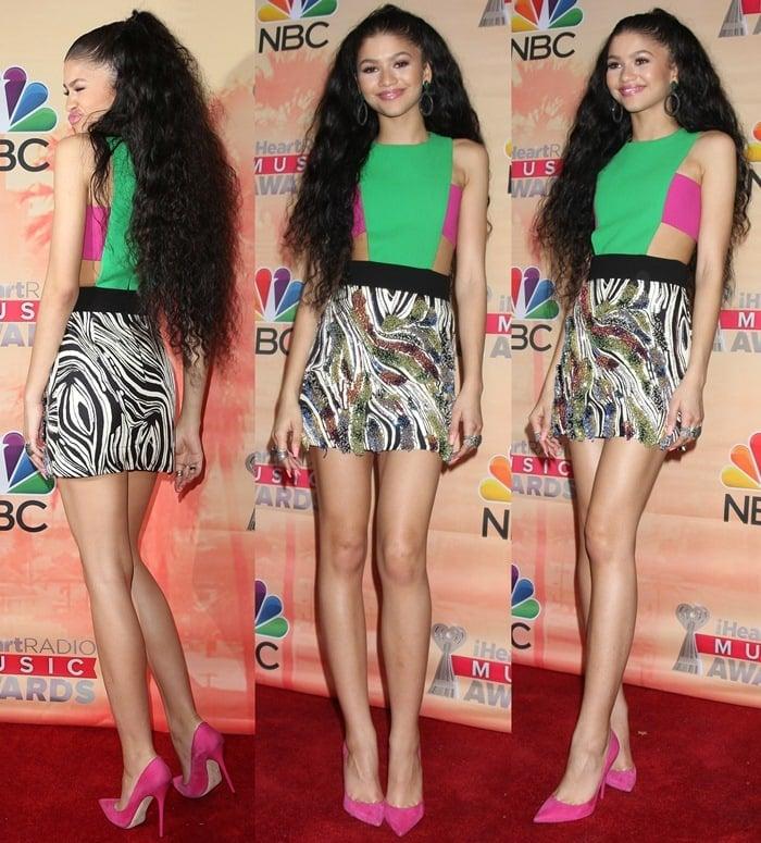 Zendaya flaunted her legs in pointy-toe heels from Jimmy Choo