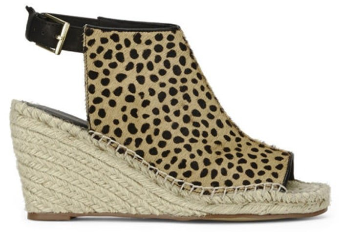 "Kurt Geiger ""Nelly"" Leopard-Print Wedge Sandals"