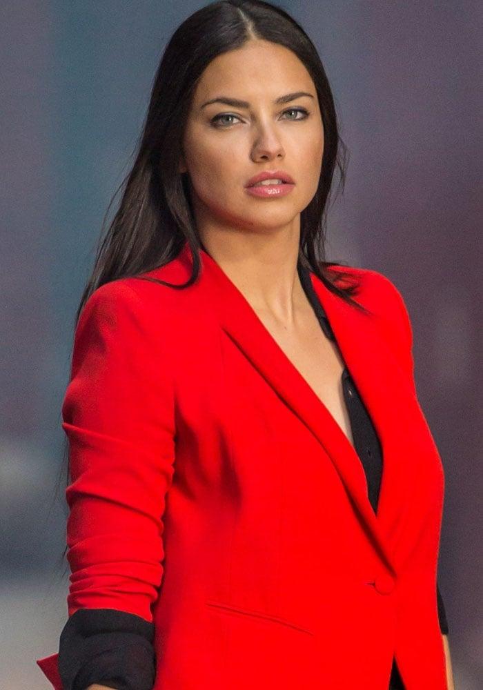 Adriana Lima Maybelline Shoot Louboutins 1