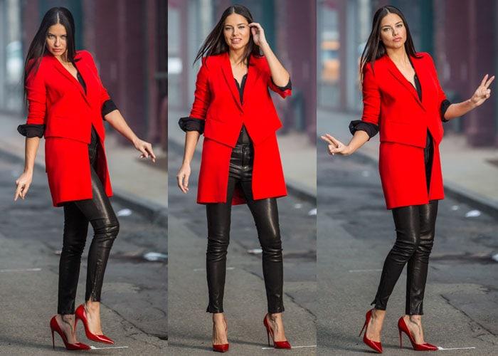 Adriana Lima Maybelline Shoot Louboutins 3