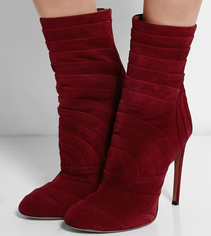 Alaia Folded suede boots