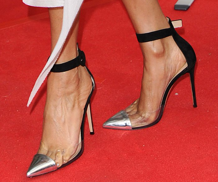 Alesha Dixon showed off her sexy toes on the red carpet