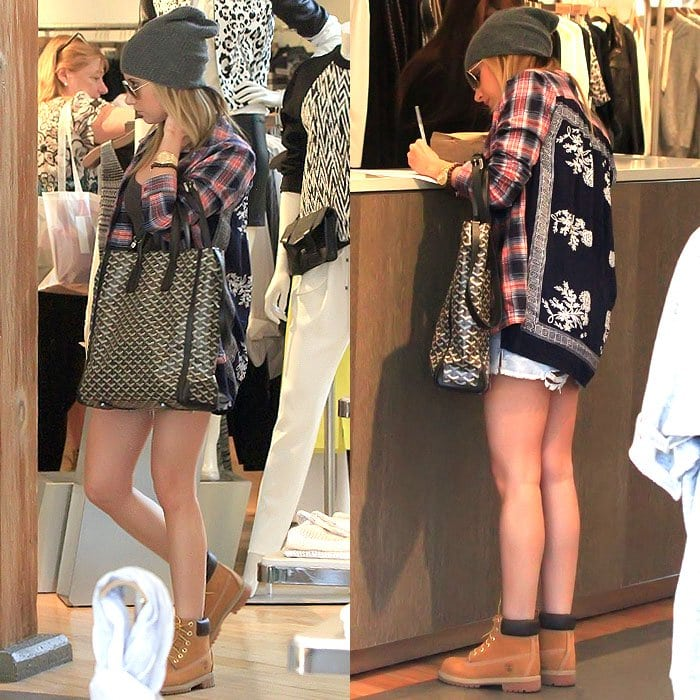 Ashley Tisdale wearing Timberland boots