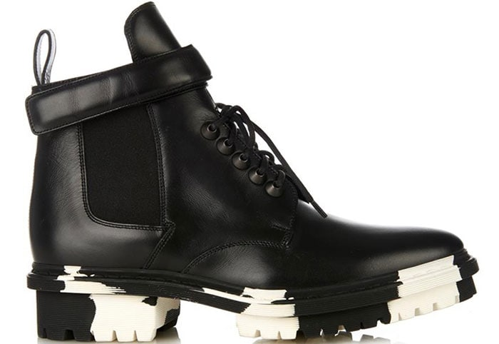 Balenciaga-Unit-leather-biker-ankle-boots