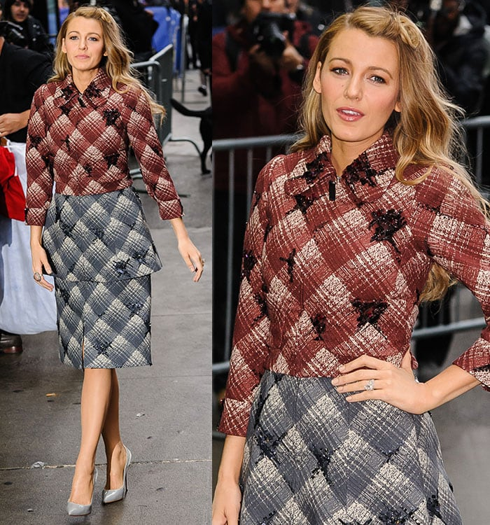 Blake-Lively-Marc-Jacobs-Jacket-and-Skirt