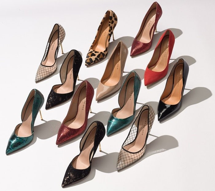 'Bond' Lace Pointy Toe d'Orsay Pump