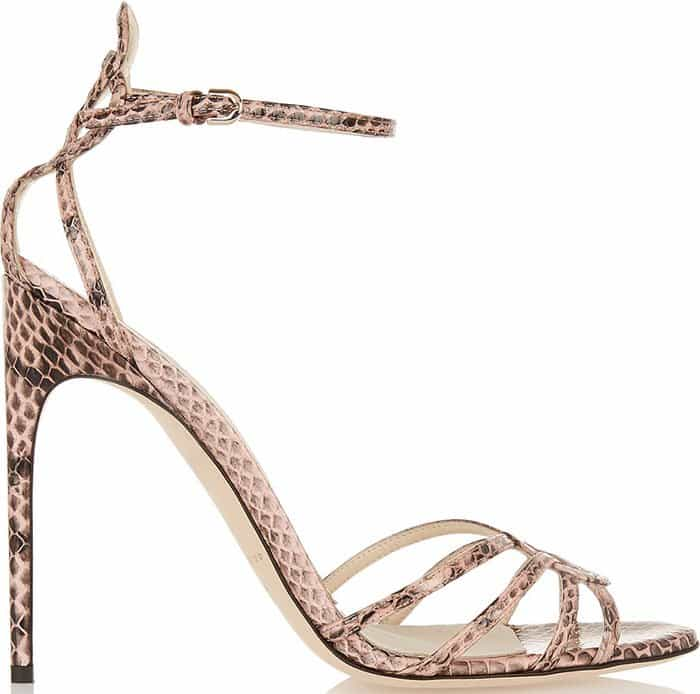 Brian Atwood Cassia Elaphe Sandals