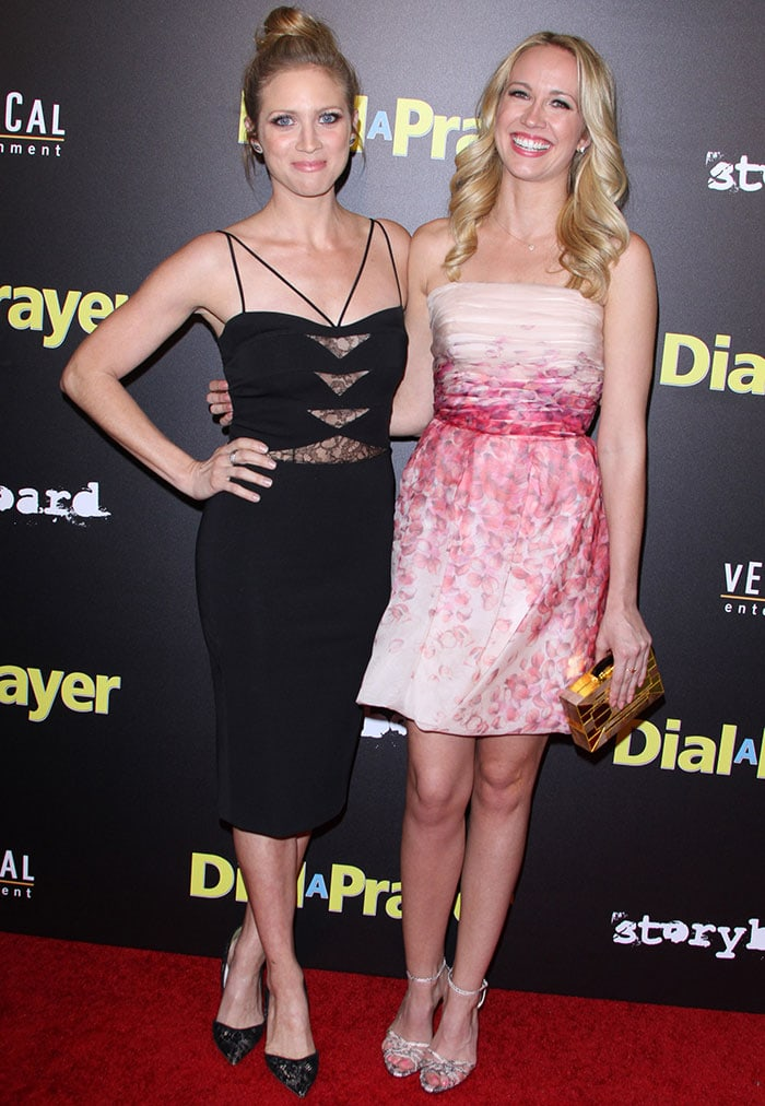 Brittany Snow and Anna Camp at the premiere of Dial a Prayer