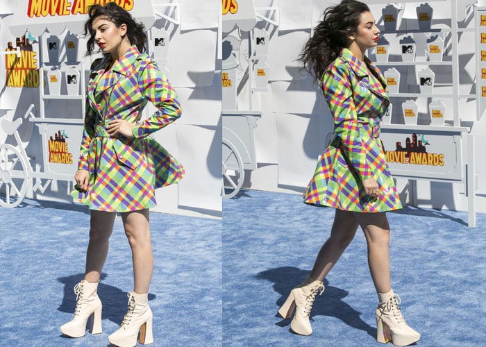 Charli XCX at the 2015 MTV Movie Awards at Nokia Theatre, Los Angeles on April 12, 2015