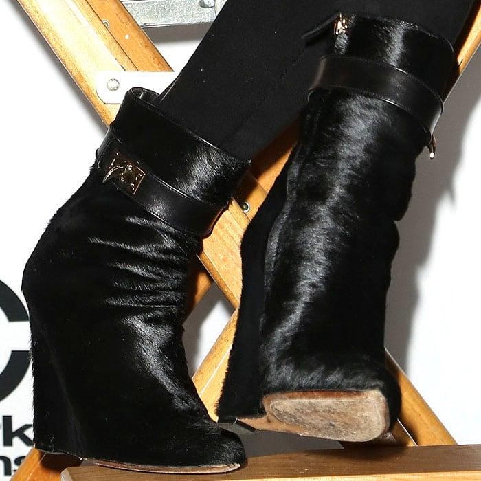 Chrissy Teigen's Givenchy shark-lock boots