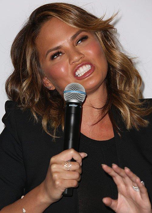 Chrissy Teigen showing her goofy side