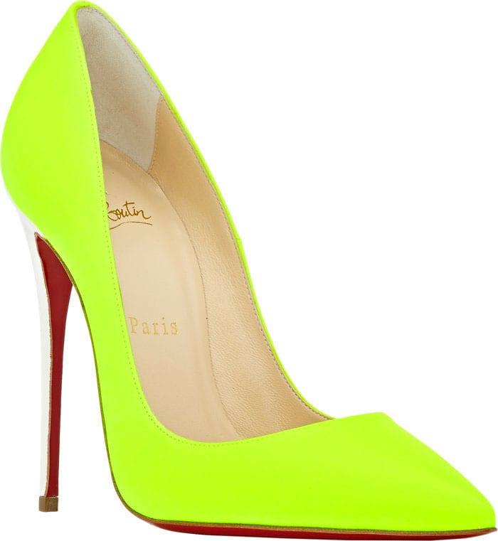 Christian Louboutin So Kate Pumps Neon Yellow