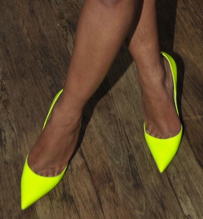 Christina Milian's hot feet in Christian Louboutin pumps