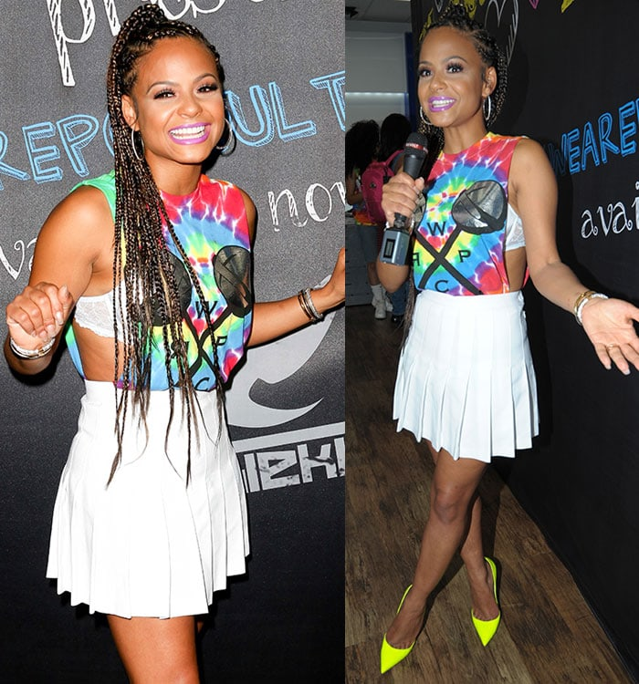 Christina Milian styled her long hair in cornrow braids at We Are Pop Culture event