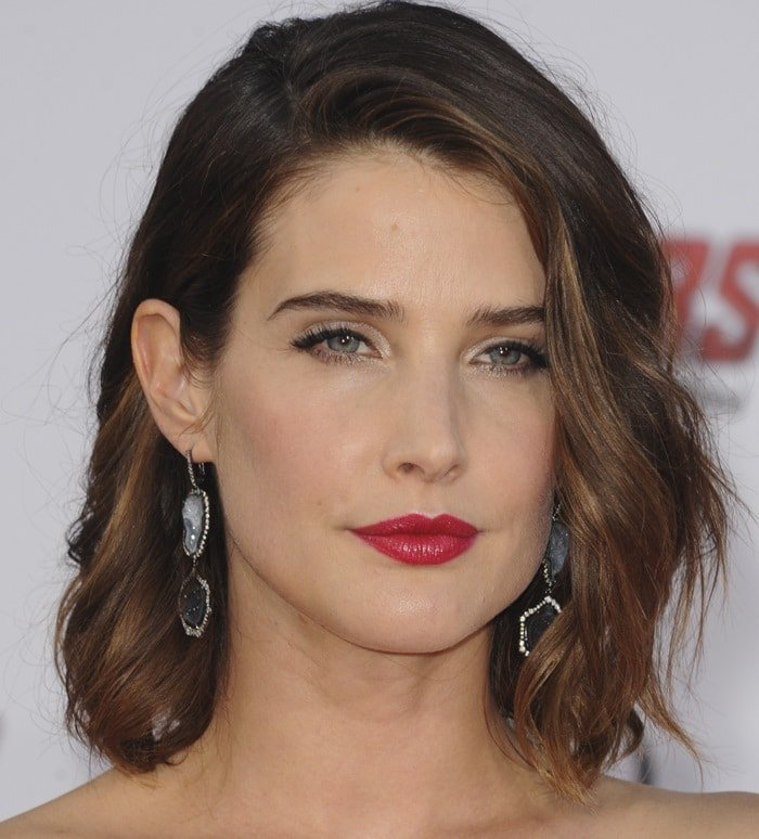 Cobie Smulders accessorized with Kimberly Mcdonald jewelry
