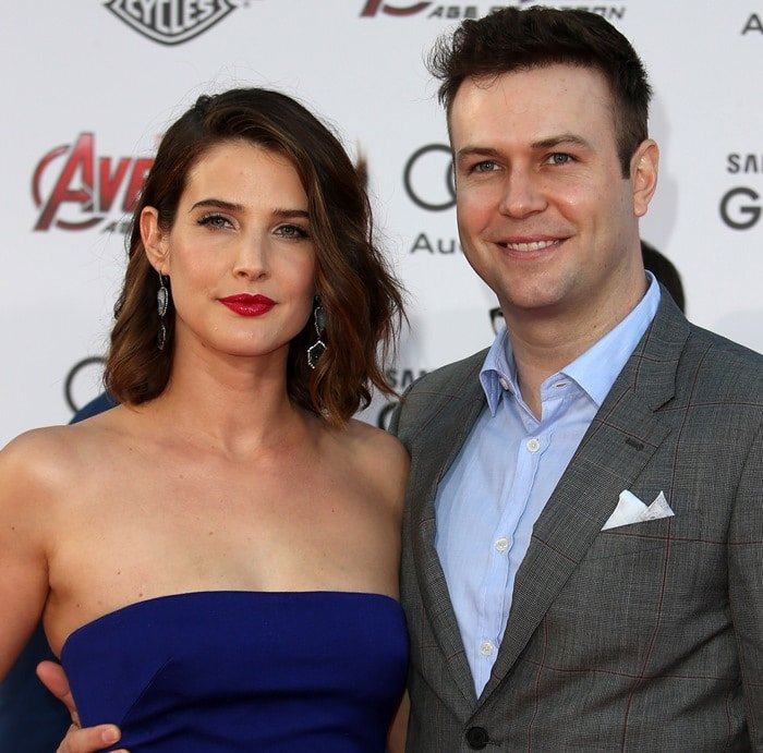 Cobie Smulders and Taran Killam at the premiere of her latest film Avengers: Age of Ultron