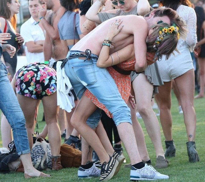 Sarah Hyland and Dominic Sherwood At Coachella