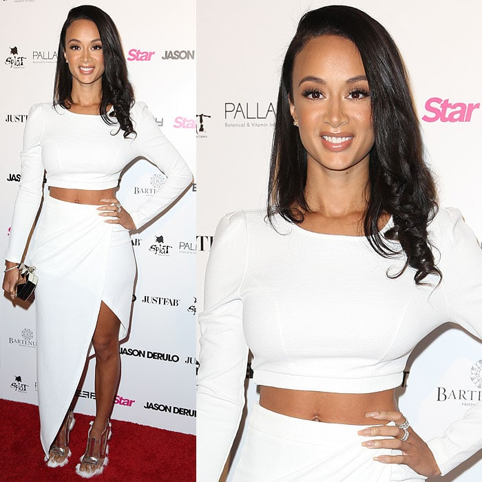 "Draya Michele at Jason Derulo's ""Everything Is 4"" listening party presented by Star Hollywood Rocks at The Argyle Hollywood boutique nightclub in Los Angeles, California, on April 15, 2015"