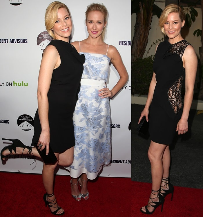 Elizabeth Banks and Anna Camp at the premiere of Hulu's 'Resident Advisors' at Sherry Lansing Theatre at Paramount Studios in Los Angeles on March 31, 2015