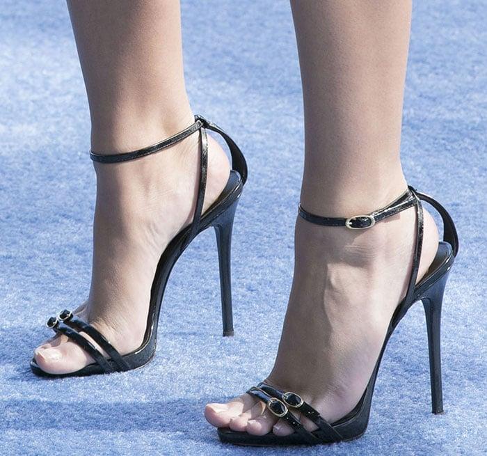 Emily Ratajkowski's sexy feet in Giuseppe Zanotti sandals
