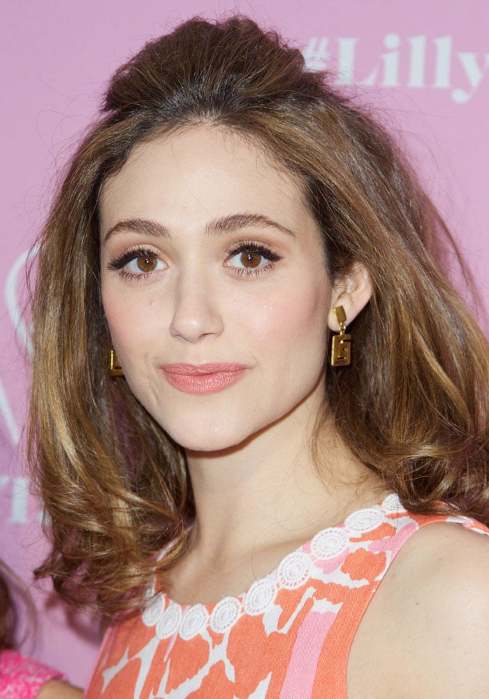 Emmy Rossum at the Target and Lilly Pulitzer private shopping event to celebrate the Lilly Pulitzer for Target collaboration at Bryant Park Grill in New York City on April 16, 2015