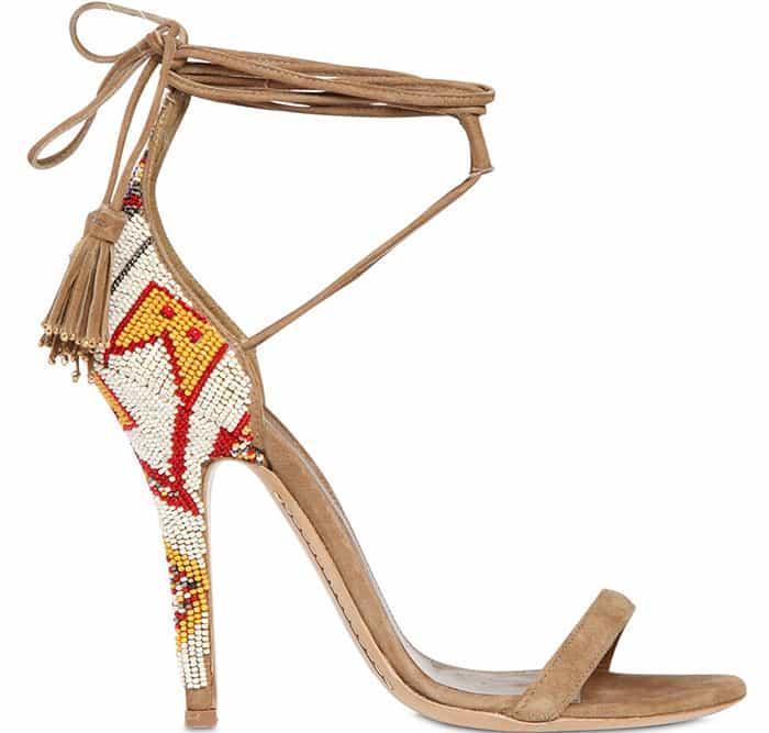 Etro Beaded Suede Sandals