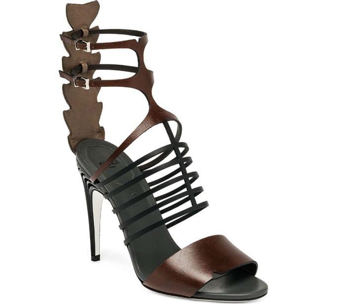 Fendi-Crocodile-&-Leather-Cage-Sandals